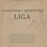 Југословенска демократска лига (1919)