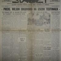 Jugoslovenski svijet (09.04.1918)