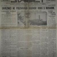 Jugoslovenski svijet (20.03.1918)