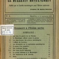 Le Bulletin Montenegrin (15.09.1917)